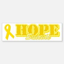 Hope Yellow ribbon Bumper Bumper Bumper Sticker