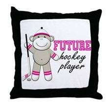 Future Hockey Player Throw Pillow