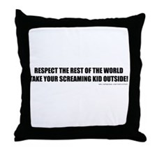 No Screamers Throw Pillow