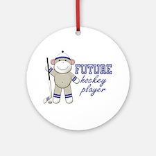 Future Hockey Player Ornament (Round)