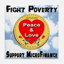 Fight Poverty Support MicroFi Tile Coaster
