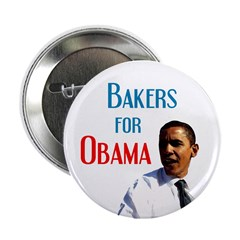 Bakers for Obama button