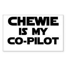 Chewie is my Co-pilot Rectangle Decal