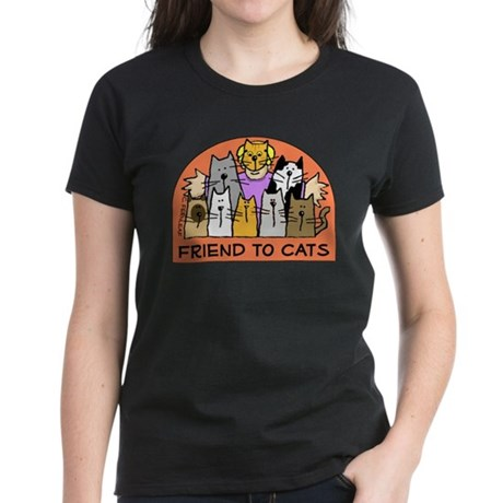 Friend to Cats Women's Dark T-Shirt