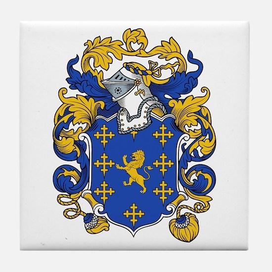 Jordan Family Crest Tile Coaster