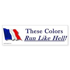 Run Like Hell! Bumper Bumper Sticker