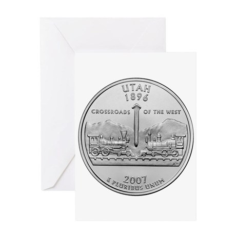 2007 Utah Quarter Greeting Card