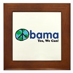 Obama Yes We Can Framed Tile
