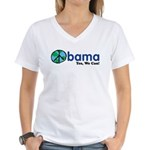 Obama Yes We Can Women's V-Neck T-Shirt