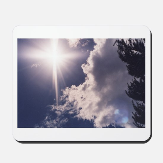 Cross in the Clouds Mousepad