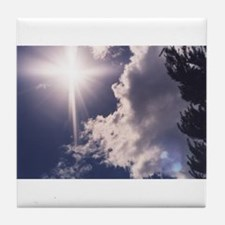 Cross in the Clouds Tile Coaster