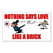 """Krazy Kat """"Nothing Says Love Rectangle Decal"""