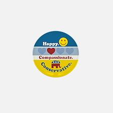 Happy Compassionate Conservative Mini Button