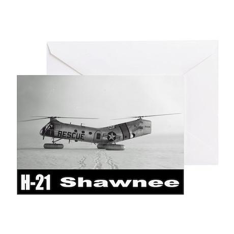 H-21 Workhorse / Shawnee Greeting Card