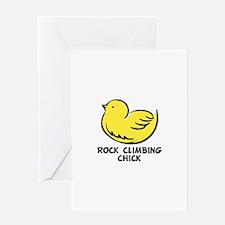 Rock Climbing Chick Greeting Card