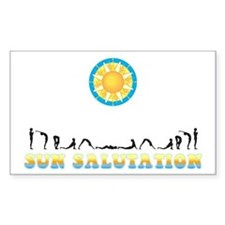 Sun Salutation Rectangle Decal