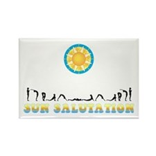Sun Salutation Rectangle Magnet