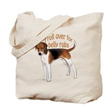 American foxhound belly rub Tote Bag