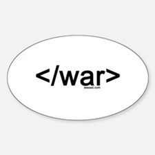 end war Oval Decal