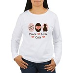 Peace Love Cats Kitty Cat Long Sleeve T Shirt