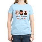 Peace Love Cats Kitty Cat Women's Light T-Shirt