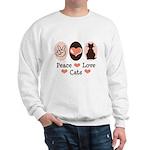 Peace Love Cats Kitty Cat Sweatshirt