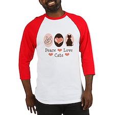 Peace Love Cats Kitty Cat Baseball Jersey