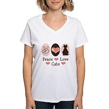 Peace Love Cats Kitty Cat Shirt