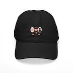 Peace Love Cats Kitty Cat Black Cap