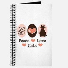 Peace Love Cats Kitty Cat Journal