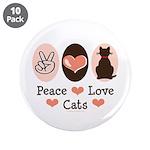Peace Love Cats Kitty Cat 3.5