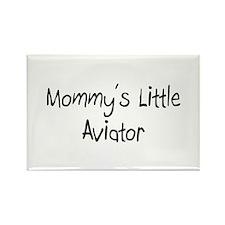 Mommy's Little Aviator Rectangle Magnet