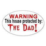 Protected By: Oval Sticker (50 pk)