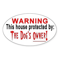 Protected By: PETS! Oval Sticker (10 pk)