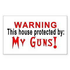 Protected By: Rectangle Sticker 50 pk)