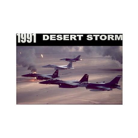 Desert Storm Rectangle Magnet