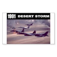 Desert Storm Rectangle Decal
