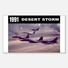 Desert Storm Rectangle Decal