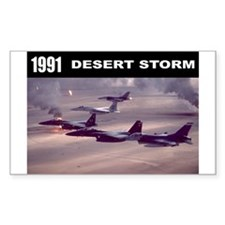 Desert Storm Rectangle Sticker 10 pk)