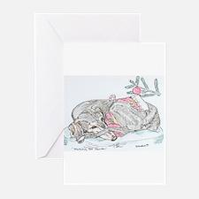 Greeting Cards (Pk of 10) Saluki Xmas