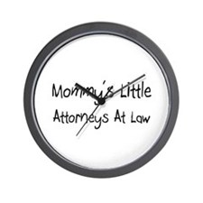 Mommy's Little Attorneys At Law Wall Clock