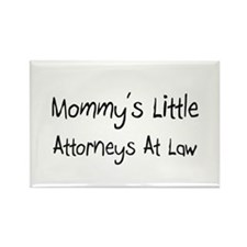 Mommy's Little Attorneys At Law Rectangle Magnet