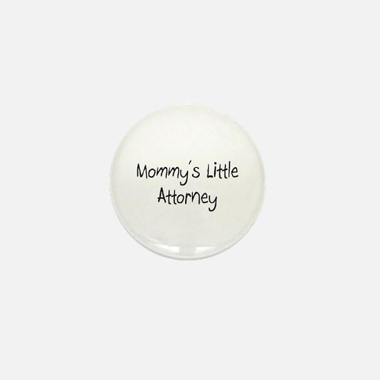 Mommy's Little Attorney Mini Button