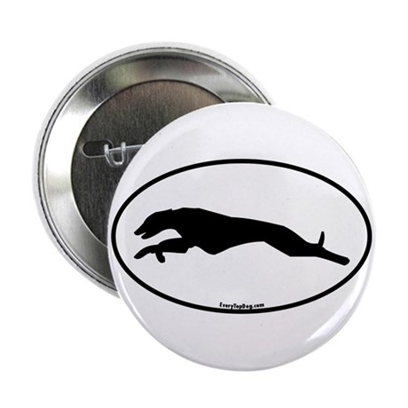 "Greyhound Running Oval 2.25"" Button"
