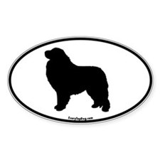 Great Pyrenees Euro Oval Oval Decal