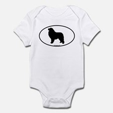Great Pyrenees Euro Oval Infant Bodysuit