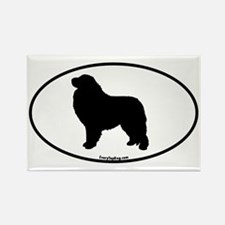 Great Pyrenees Euro Oval Rectangle Magnet