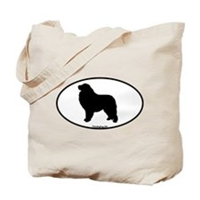 Great Pyrenees Euro Oval Tote Bag