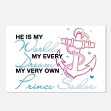 My Very Own Prince Sailor Postcards (Package of 8)