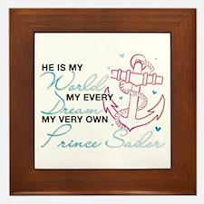 My Very Own Prince Sailor Framed Tile